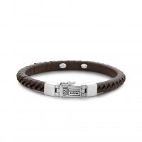 BUDDHA TO BUDDHA BRACELET KOMANG SMALL LEATHER BROWN