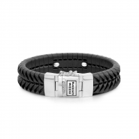 BUDDHA TO BUDDHA BRACELET KOMANG LEATHER BLACK
