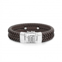 BUDDHA TO BUDDHA BRACELET KOMANG LEATHER BROWN