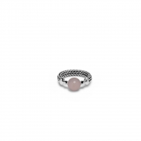 BUDDHA TO BUDDHA - BATAS SPHERE STONE RING ROSE